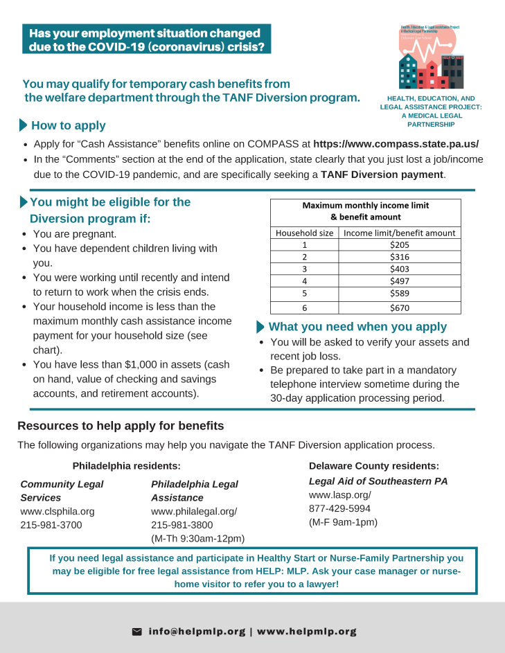 TANF Diversion flyer 14 Apr 20